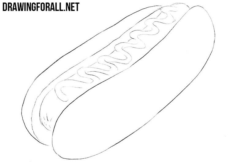 hotdog drawing tutorial