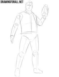 How to draw Star Lord easy