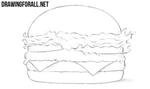 How to draw a burger