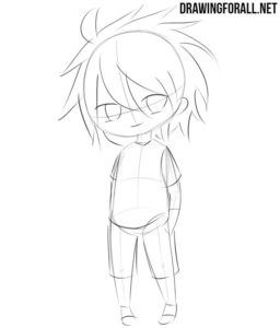 How to draw a chibi character easy