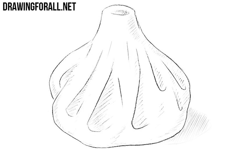 How to draw a dumpling