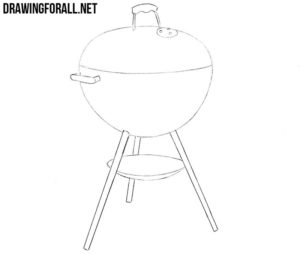How to draw a grill easy