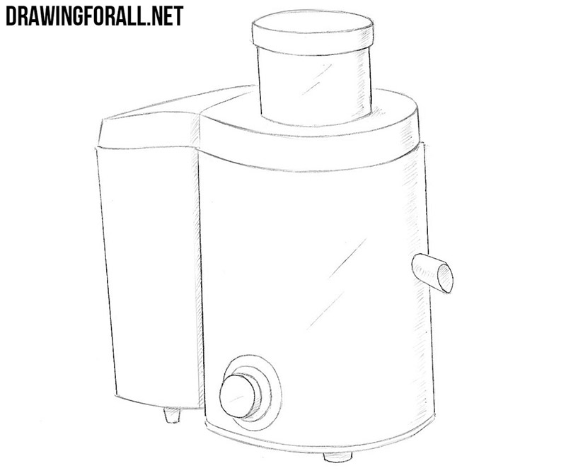 How to draw a juicer