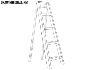 How to draw a ladder easy
