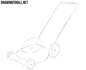 How to draw a lawn mower easy