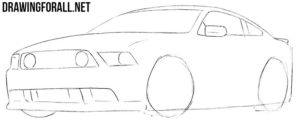 How to draw a muscle car for beginners