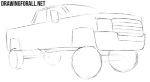 How to draw a pick up Truck