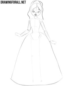 How to draw a princess step by step