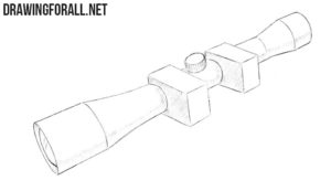 How to draw a sniper scope