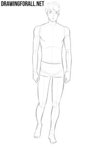 How to draw an anime body for beginners