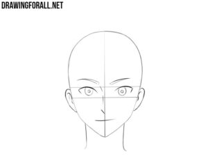 How to draw an anime head step by step