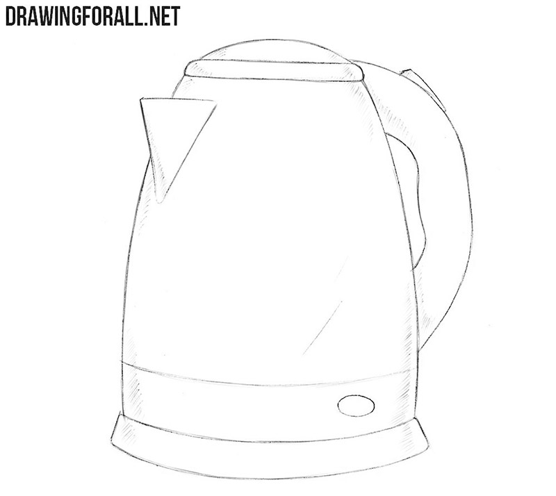 How to Draw an Electric Kettle | Drawingforall.net Draw Electric on