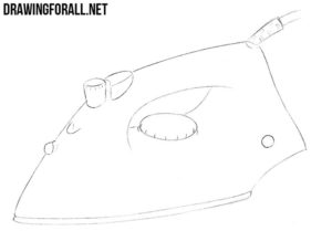 How to draw an iron for beginners
