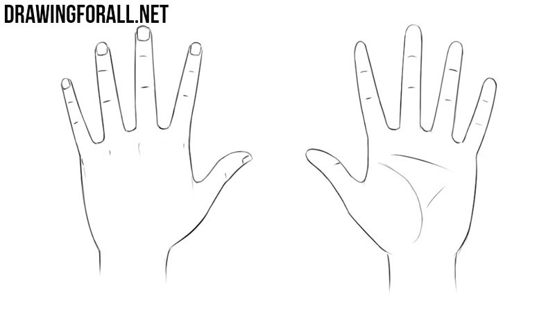 How to draw anime hands
