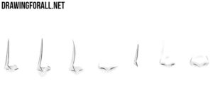 How to draw anime noses front view