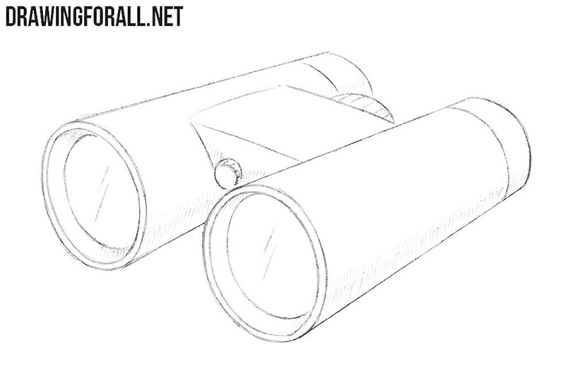 How to draw binoculars