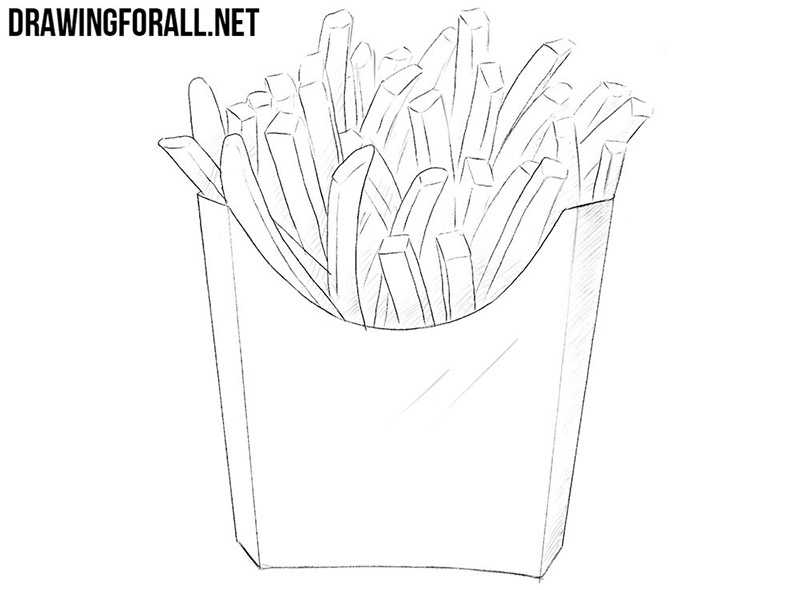 How to draw french fries