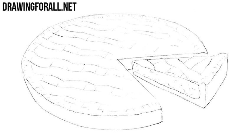 how to sketch a pie
