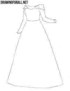 Princess dress drawing guide