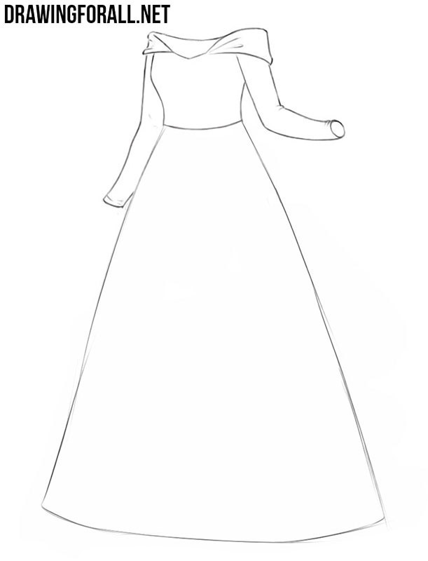 Princess dress drawing guide