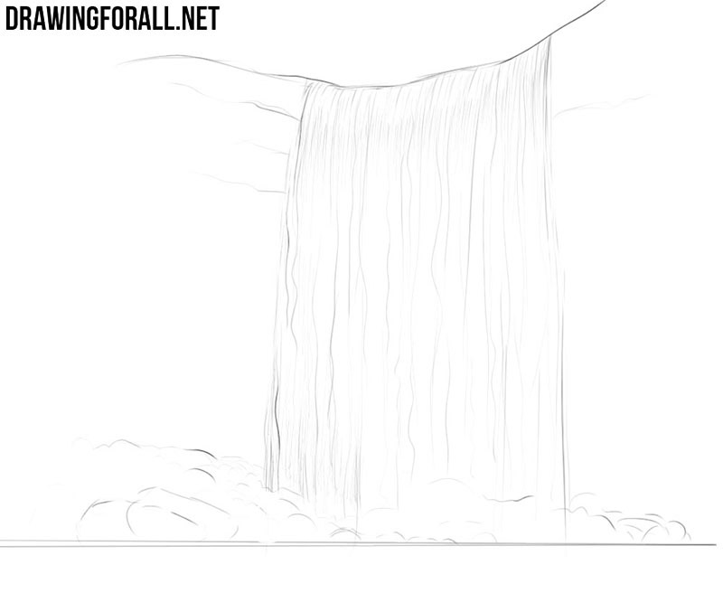 Waterfall drawing tutorial
