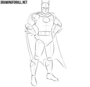 Batman drawing step by step