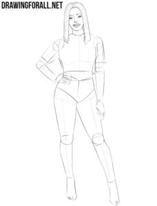 Girl body drawing