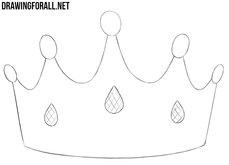 How easy to draw a princess crown