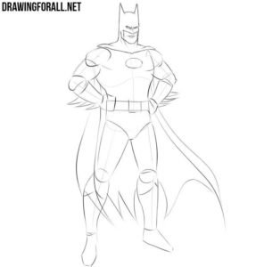 How to draw Batman step by step easy