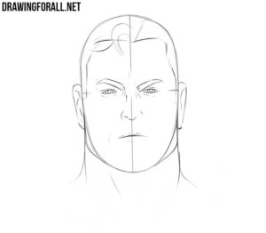 How to draw Superman head