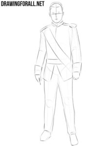 How to draw a prince for beginners