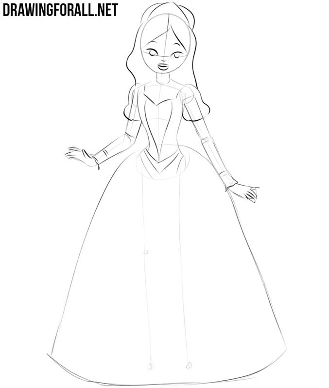 How to draw a princess easy
