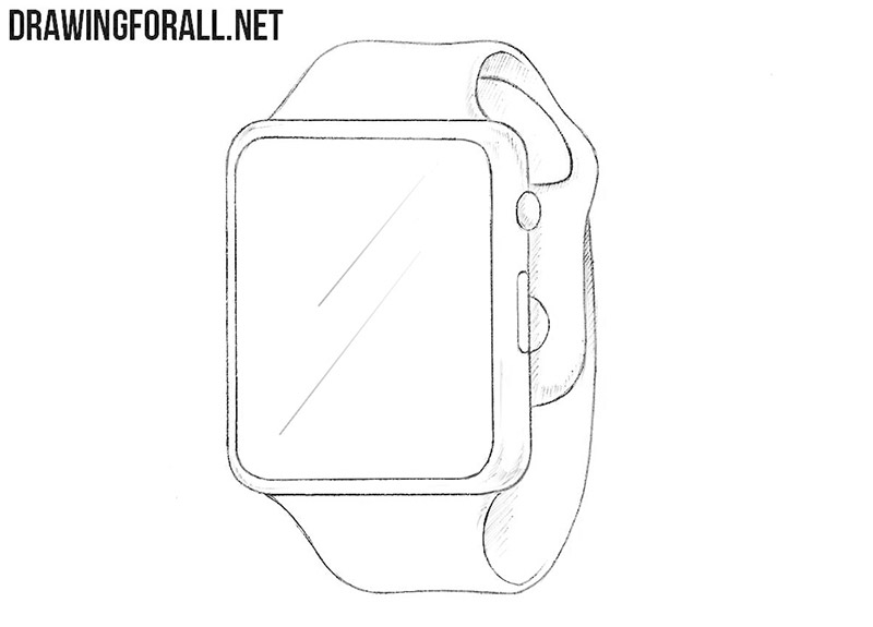 How to draw a smart watch