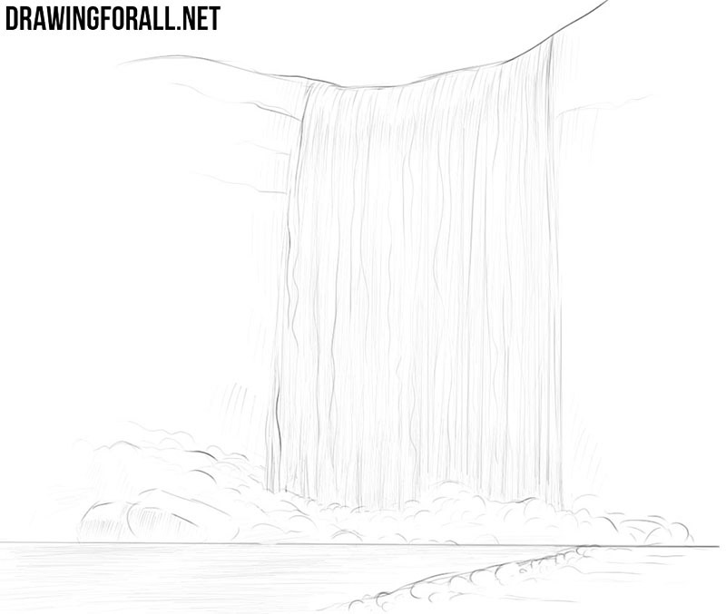 How to draw a waterfall