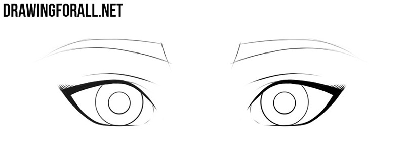 How to draw anime eyes female