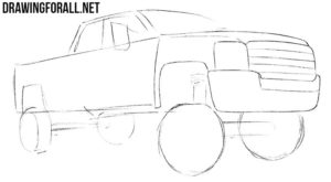 How to sketch a truck easy