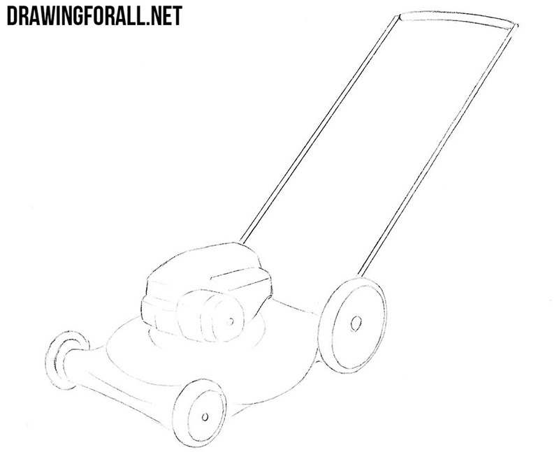 Lawn mower drawing tutorial