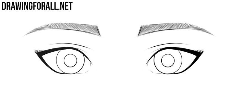 Anime eyes drawing