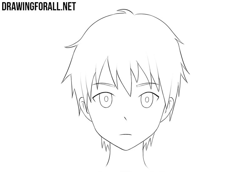 Anime face drawing tutorial
