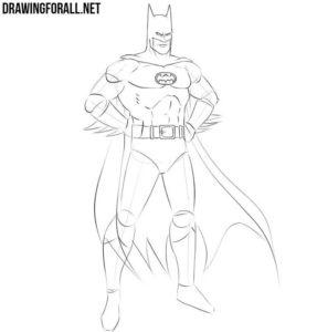 How do you draw Batman