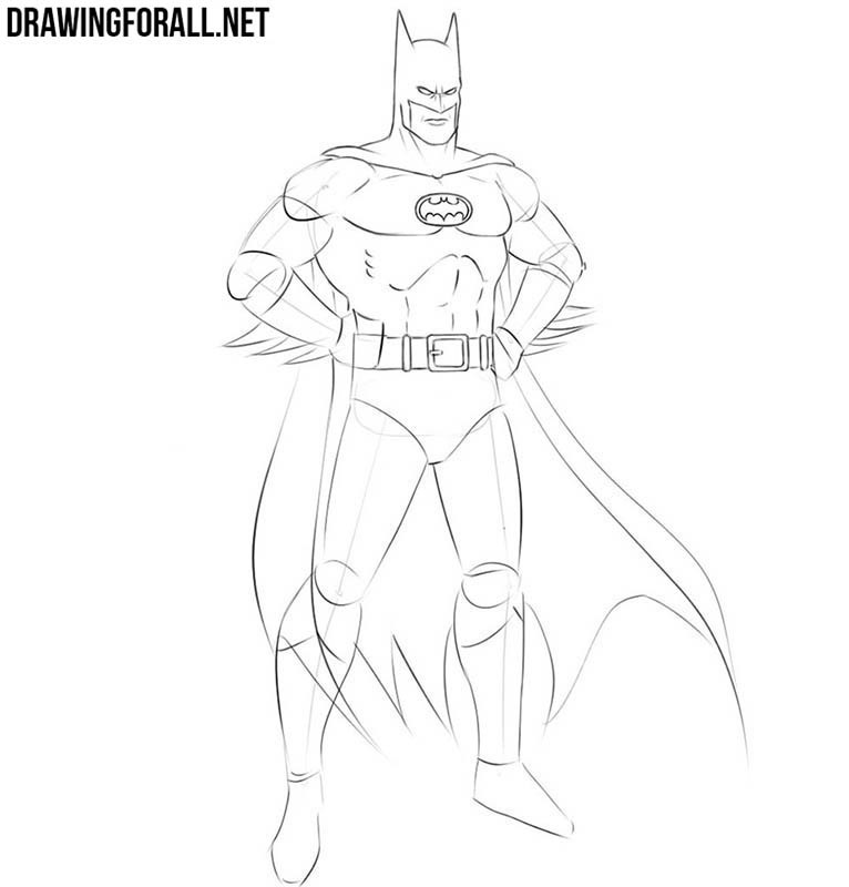 How do you draw Batman