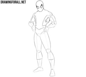 How to draw Spider-Man step by step full body