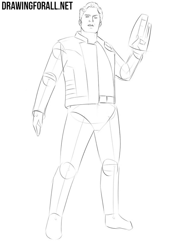 How to draw Star Lord from guardians of the galaxy