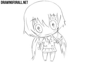How to draw a chibi anime girl