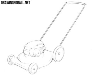 How to draw a lawn mower