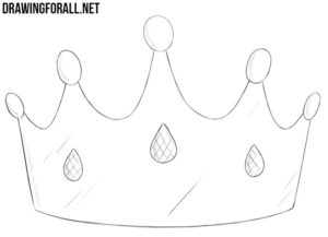 How to draw a princess crown
