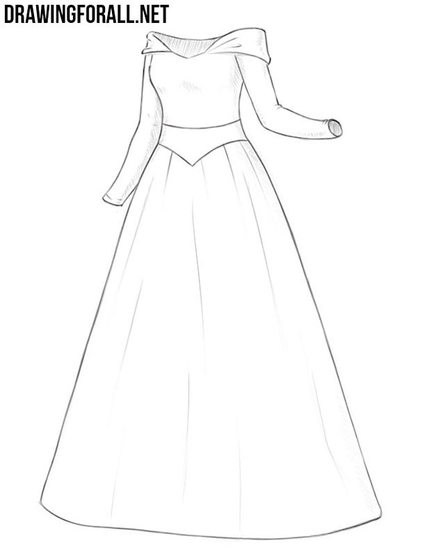 How to draw a princess dress