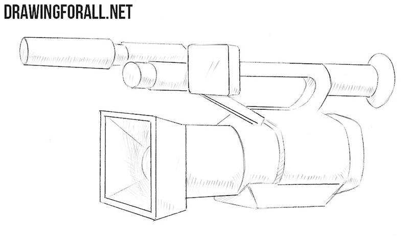 How to draw a video camera