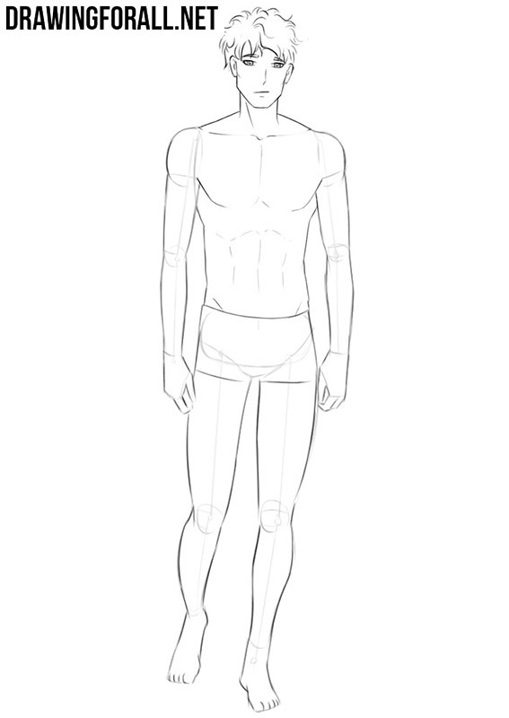 How to draw an anime body step by step easy