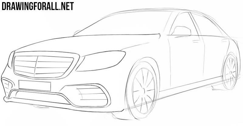 Простой рисунок автомобиля